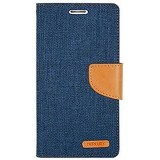 MERCURY Case Asus Zenfone 2 5.0 Goospery Fancy Diary Canvas - Dark Blue (Merchant) - Casing Handphone / Case