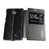 MERCURY Flipcover Case View for Nokia X - Black (Merchant) - Casing Handphone / Case