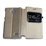 MERCURY Flipcover Case View for Nokia X - Gold (Merchant) - Casing Handphone / Case