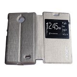 MERCURY Flipcover Case View for Nokia X - Silver (Merchant) - Casing Handphone / Case
