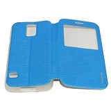 MERCURY Flipcover Case View for Samsung Galaxy S5 Mini i9600 - Blue (Merchant) - Casing Handphone / Case