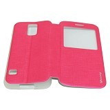 MERCURY Flipcover Case View for Samsung Galaxy S5 i9600 - Pink (Merchant) - Casing Handphone / Case