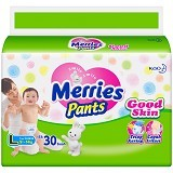 MERRIES Pants Diapers Size L 30pcs (Merchant) - Disposable Diapers / Popok Sekali Pakai