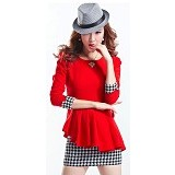 METALINDO Farra Dress Size L [XY61060] - Red - Mini Dress Wanita