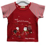 BABY WAREHOUSE Micromotion Shirt Santa Claus 12-18 month - Red - Baju Bepergian/Pesta Bayi dan Anak