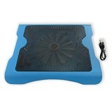 MID Cooling Pad Big Fan Aluminium Pendingin Laptop - Biru - Notebook Cooler