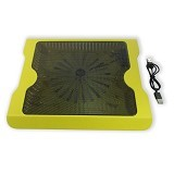 MID Cooling Pad Big Fan Aluminium Pendingin Laptop - Kuning - Notebook Cooler
