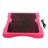 MID Cooling Pad Big Fan Aluminium Pendingin Laptop - Pink - Notebook Cooler