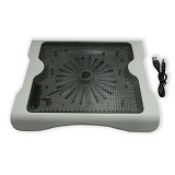 MID Cooling Pad Big Fan Aluminium Pendingin Laptop - Putih - Notebook Cooler