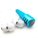 MIIBOX Mic Earphone 2 In 1 Smule - Blue (Merchant) - Microphone Live Vocal