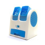 MIIBOX Mini Fan Air Conditioning With USB & AA Battery Powered - Blue (Merchant) - AC Portable
