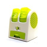 MIIBOX Mini Fan Air Conditioning With USB & AA Battery Powered - Green (Merchant) - AC Portable