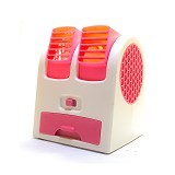 MIIBOX Mini Fan Air Conditioning With USB & AA Battery Powered - Pink (Merchant) - Ac Portable