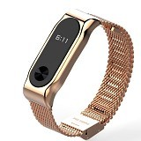 MIJOBS Replacement Band / Strap Stainless Steel for Xiaomi Mi Band 2 OLED - Gold (Merchant) - Casing Smartwatch / Case