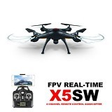 SYMA Drone X5SW + Wifi FPV Quadcopter with 2.0MP HD Camera - Black (Merchant) - Drone