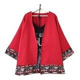 MODENESIA Outer Bohemian - Red (Merchant) - Cardigan Wanita
