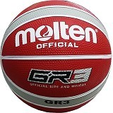 MOLTEN Bola Basket #3 Size 3 [BGR3] - Wine/Red/Silver - Bola Basket