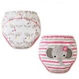 MOM AND BAB Training Pants 2 Pack Size 90 [MB-ele-pink] - Pink Elephant - Celana Bepergian/Pesta Bayi dan Anak
