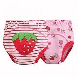 MOM AND BAB Training Pants 2 Pack Size 95 [MBS1] - Strawberry - Celana Bepergian/Pesta Bayi dan Anak