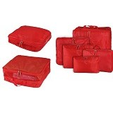 BAGS IN BAG Travel Organizer Bag Set 5 in 1 - Red - Travel Bag