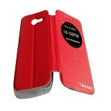 AIMI Flipcover Fitur View for Asus Zenfone 4 AC400CG - Red (Merchant) - Casing Handphone / Case