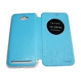 AIMI Flipcover Fitur View for Asus Zenfone Max ZC550KL - Soft Blue (Merchant) - Casing Handphone / Case
