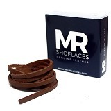 MR SHOELACES Tali Sepatu Kulit [LR13150] - Light Brown (Merchant)