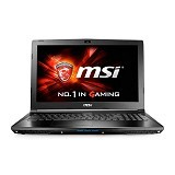 MSI Notebook GP62M 7RD (Core i7-7700HQ Nvidia GTX 1050) Non Windows (Merchant) - Notebook / Laptop Gaming Intel Core I7