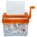 MY KITCHEN HELPER Mini Hand Shredder - Orange - Paper Shredder Personal / Home