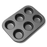 MY KITCHEN HELPER Muffin Pan 6 Cup