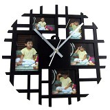 NAIL YOUR ART Circle Frame Black Jam Dinding Photo Frame Artistik [NYA150102]