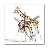 NAIL YOUR ART Jam Dinding Artistik Giraffe [NYA150216] - Jam Dinding