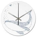 NAIL YOUR ART Jam Dinding Artistik Whale [NYA141205] - White - Jam Dinding