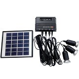NANKAI Solar Panel Charge 3 Lampu - Battery Charger Otomotif / Cas Aki