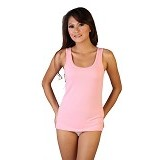 NATHALIE Flexible Tank Top Girls Size M [NTA 750] - Pink - Camisole and Tanks Top