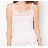 NATHALIE Helanca Lace Camisol Size M [NTA 469] - Pink - Camisole and Tanks Top