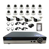 NATHANS Paket Super AHD 16 Channel 2.0MP - Cctv Camera