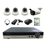 NATHANS Paket Super AHD 4 Channel 2.0MP - Cctv Camera