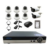 NATHANS Paket Super AHD 8 Channel 2.0MP - Cctv Camera