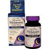 NATROL Advanced Melatonin Calm Sleep Fast Dissolve Strawberry Flavor 60 Tablets [BMBIOCC-9] - Obat Insomnia / Susah Tidur
