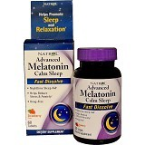NATROL Advanced Melatonin Calm Sleep Fast Dissolve Strawberry Flavor 60 Tablets [NCL0010] - Suplement Penambah Daya Tahan Tubuh