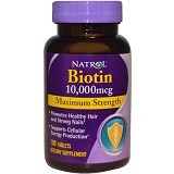 NATROL Biotin Maximum Strength 10,000 mcg 100 Tablets [NCL0008]