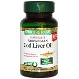 NATURE BOUNTY Norwegian Cod Liver Oil - 100 Softgels - Suplement Penambah Daya Tahan Tubuh