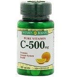 NATURE BOUNTY Vitamin C 500mg - 100 Tablets - Suplement Penambah Daya Tahan Tubuh