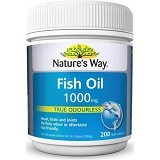 NATURE WAY Fish Oil 1000mg Odourless - 200 Caps - Suplement Pencegah Penyakit Jantung / Kolesterol