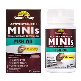 NATURE WAY Minis Fish Oil - 50 Caps - Suplement Pencegah Penyakit Jantung / Kolesterol