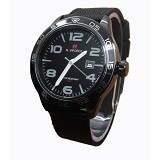 NAVIFORCE NF9032 Black List Grey - Jam Tangan Pria Fashion