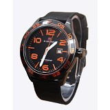 NAVIFORCE NF9032 Black List Orange - Jam Tangan Pria Fashion