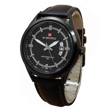 NAVIFORCE NF9045 Black Leather - Jam Tangan Pria Fashion
