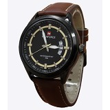 NAVIFORCE NF9045 Brown Leather - Jam Tangan Pria Fashion